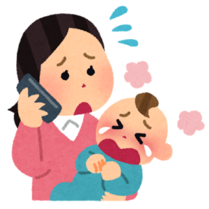 赤ちゃん泣く 電話